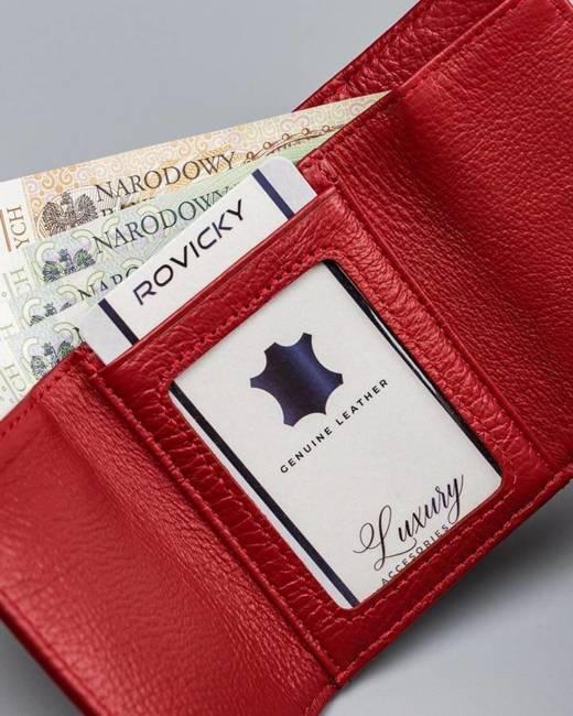 Mały portfel damski czerwony Lorenti 55287-RFID-BPR RED