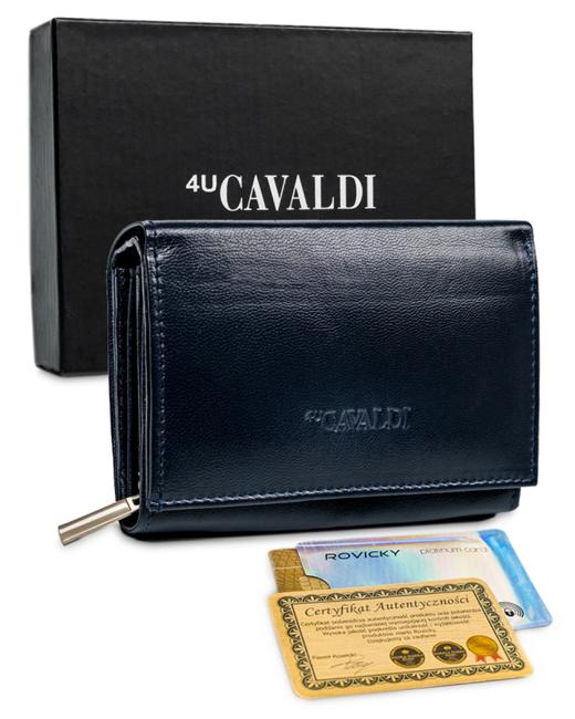 Mały portfel damski granatowy Cavaldi RD-02-GCL NAVY