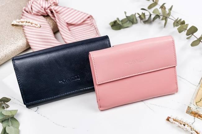 Mały portfel damski różowy Cavaldi RD-02-GCL SALMON