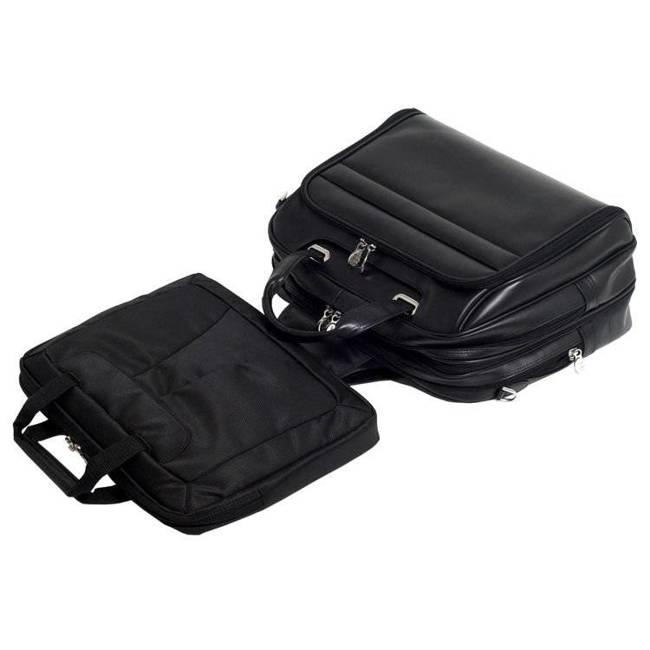 "Męska torba skórzana na laptopa 17"" Mcklein Springfield 86595 czarna"