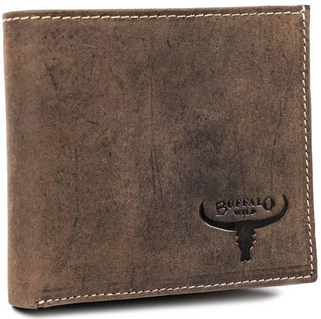 Męski portfel brązowy Buffalo Wild RM-01-HBW BROWN