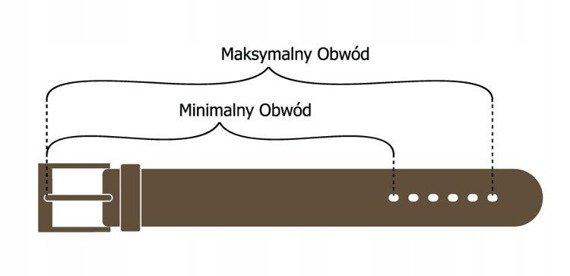 Pasek damski skórzany Rovicky PDR-2-105 brązowy