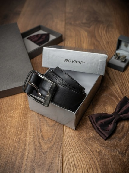 Pasek męski Rovicky PWN-01-ART 110cm czarny