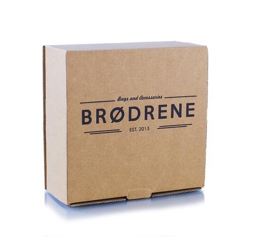 Pasek męski do spodni parciany Brodrene P10S granatowo-brązowy