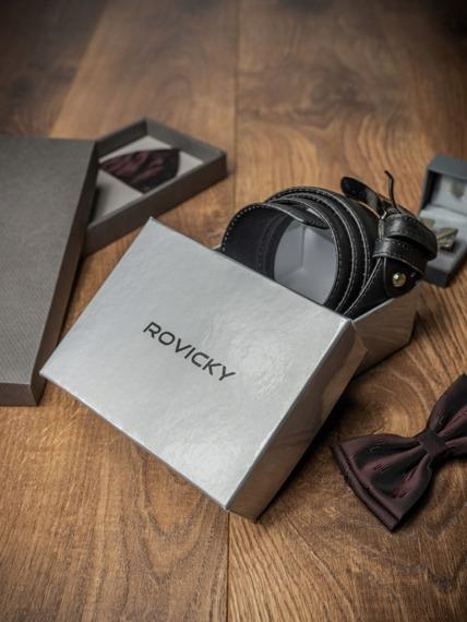 Pasek męski skórzany Rovicky PWN-01-SO 105cm czarny