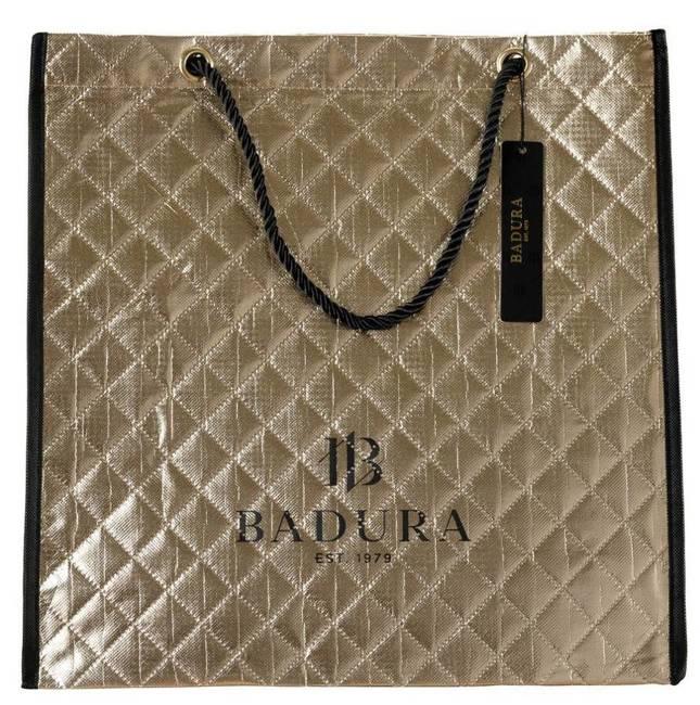Pikowana torba na zakupy złota Badura BA033 GOLD
