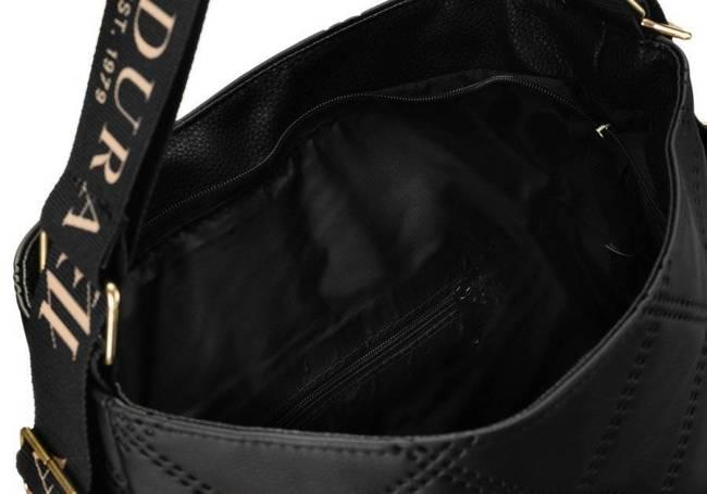 Pikowany shopper bag czarny Badura T_D207PIK_CZ_CD