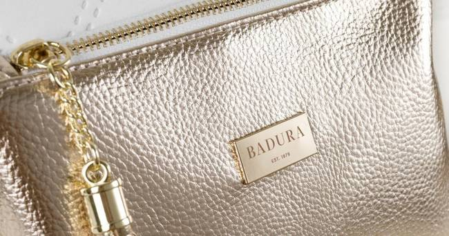 Pikowany shopper biało-złoty Badura T_D200PIK_BIA/ZL_CD