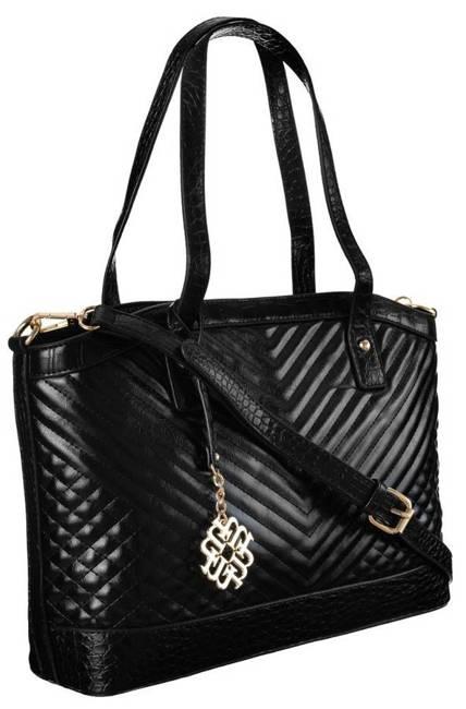 Pikowany shopper czarny Monnari  BAG2420-020