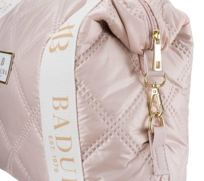 Pikowany shopper różowy Badura T_D206PIK_ROZ_CD