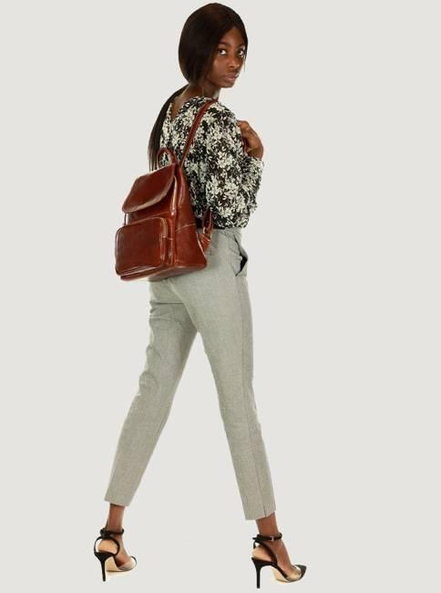 Plecak damski brązowy MARCO MAZZINI PL62b