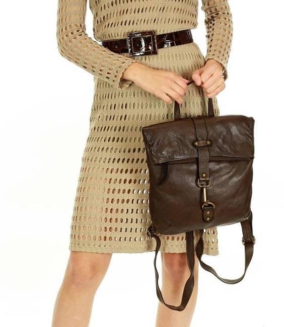Plecak damski brązowy MARCO MAZZINI v72b