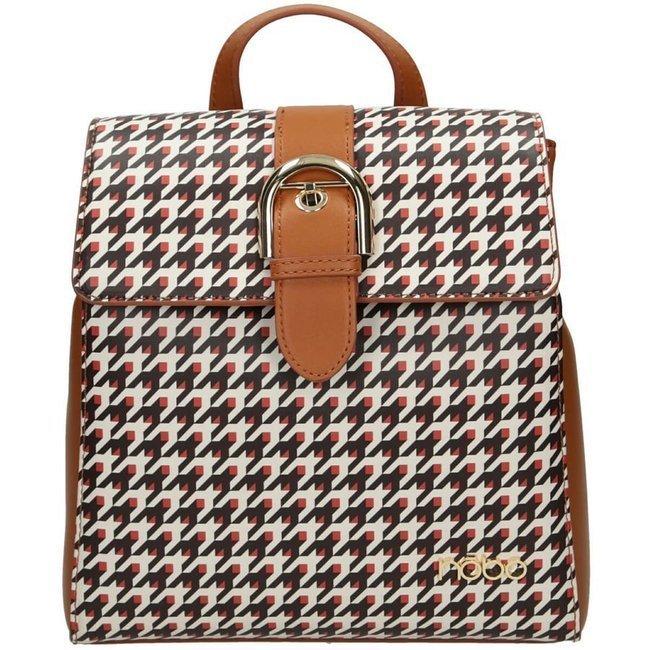 Plecak damski  brązowy w pepitkę Nobo NBAG-J0600-CM17