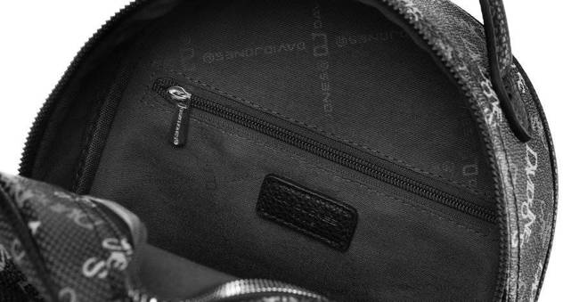 Plecak damski czarny print David Jones CH21019 BLACK