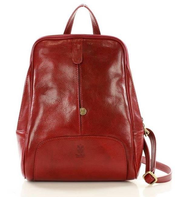 Plecak damski czerwony MARCO MAZZINI PL30d