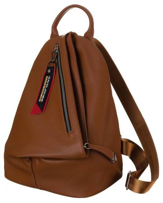 Plecak damski koniakowy David Jones  CM6008 COGNAC