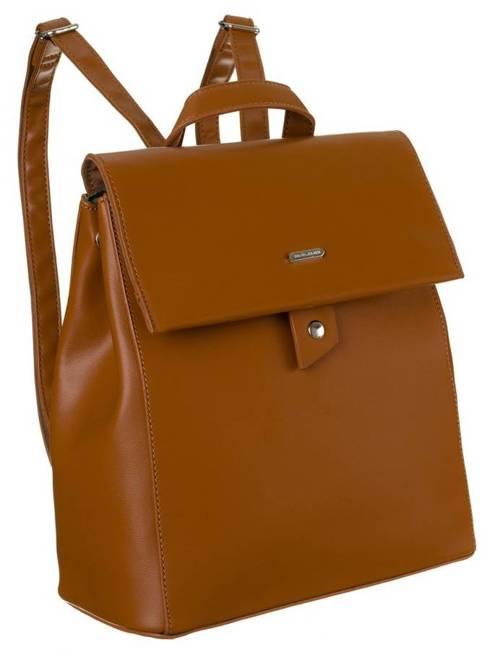 Plecak damski koniakowy David Jones CM6060 COGNAC