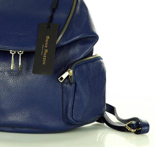 Plecak damski niebieski MARCO MAZZINI pl51d