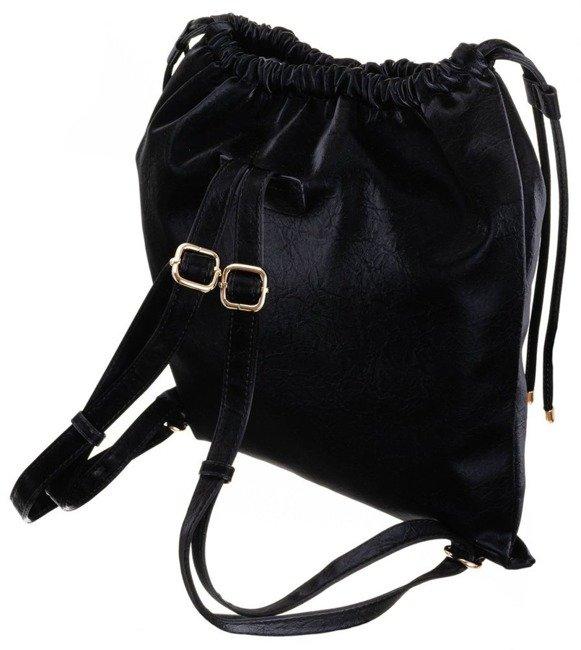 Plecak damski worek zamszowy ćwieki FemeStage czarny