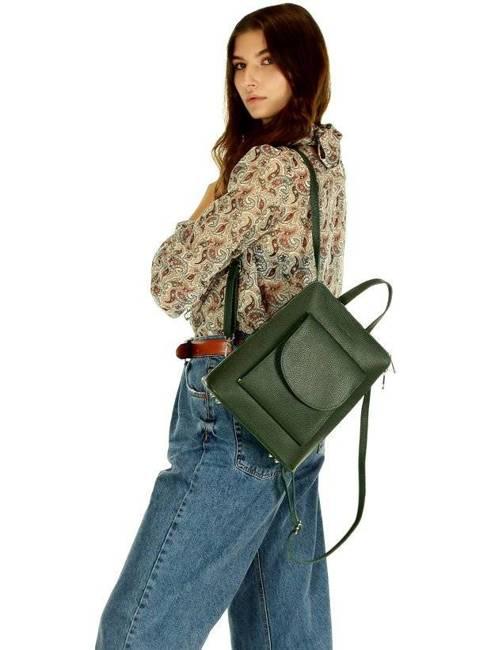 Plecak damski zielony MARCO MAZZINI PL58e