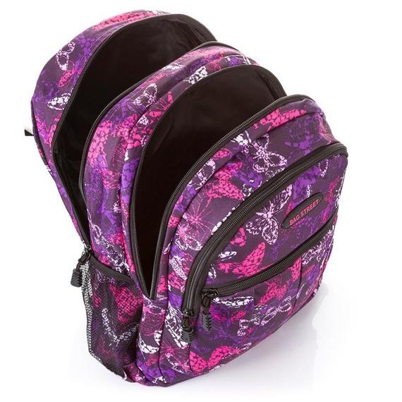 Plecak młodzieżowy szkolny w motyle Bag Street 4238-1 fiolet