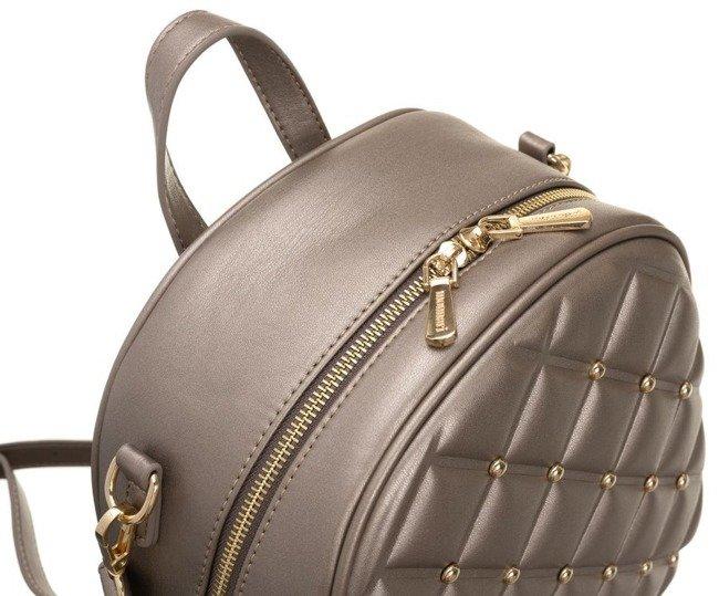 Plecak pikowany z nitami torebka 2w1 Monnari złoty 3890