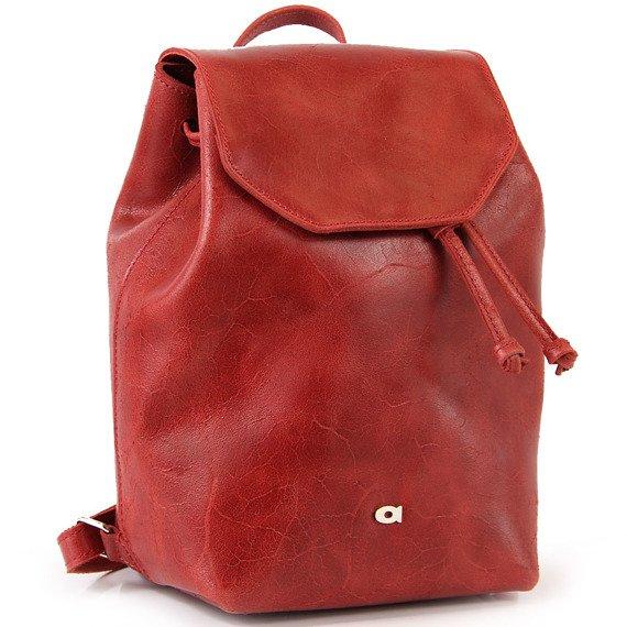 Plecak skórzany DAAG FUNKY GO! 26 czerwony