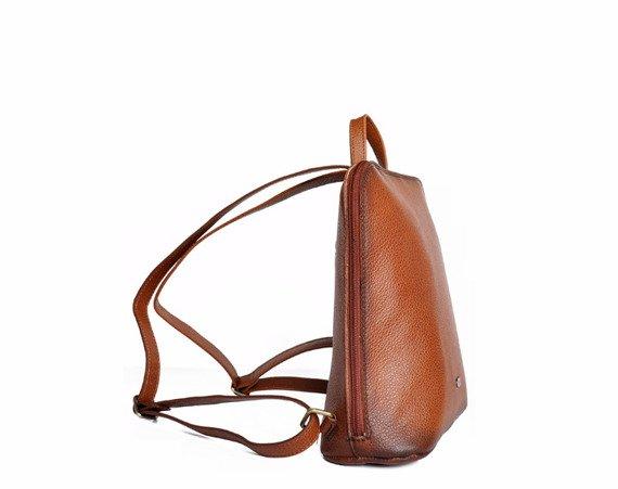 Plecak skórzany DAAG Native 16 koniakowy