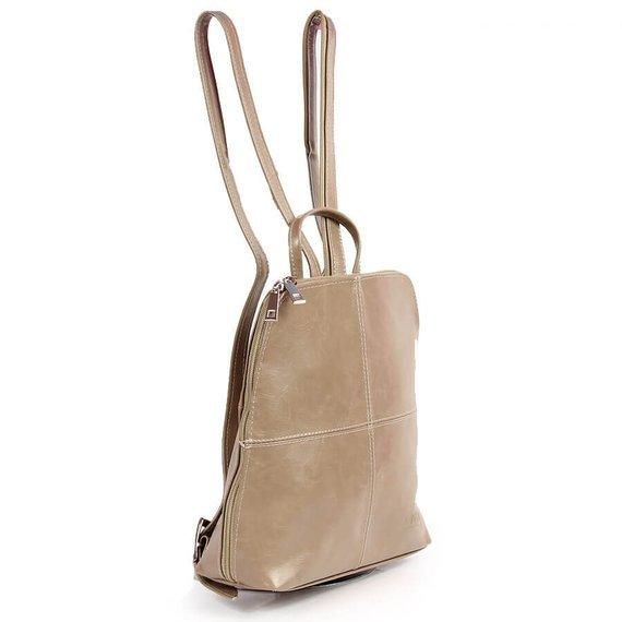 Plecak skórzany damski DAN-A T65 beżowy