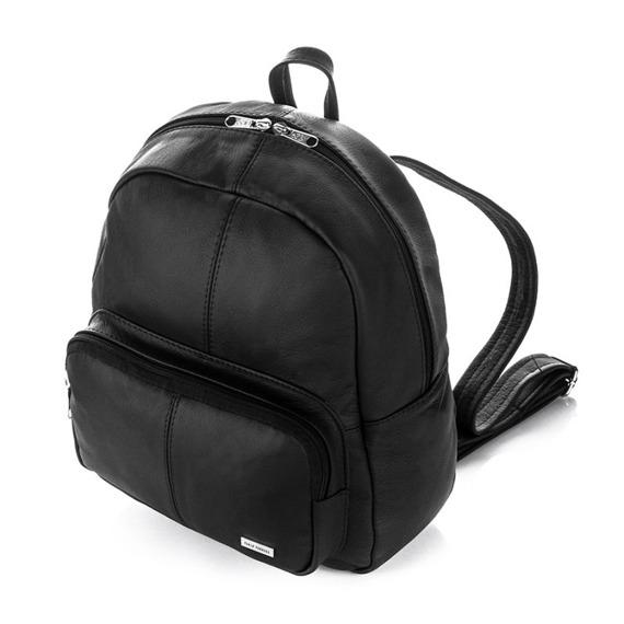 Plecak skórzany damski czarny Paolo Peruzzi B-19