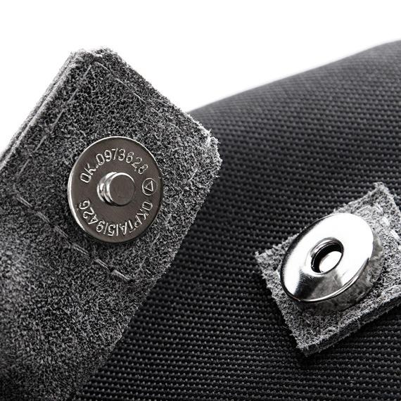Plecak skórzany vintage Paolo Peruzzi 919-PP szary