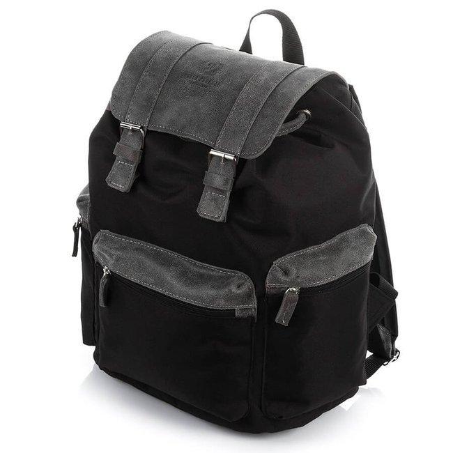 Plecak skórzany vintage Paolo Peruzzi A11-PP czarny