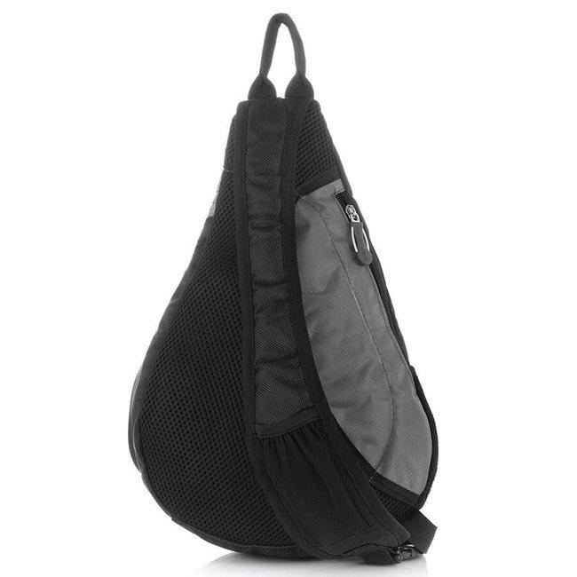 Plecak sportowy na jedno ramię szary Bag Street 4388