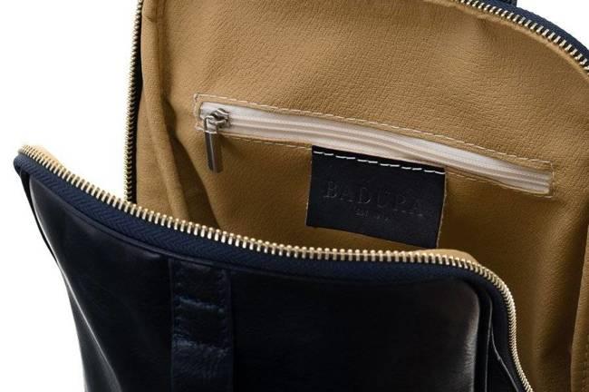 Plecak w stylu vintage granatowy Badura T_D193GR_CD