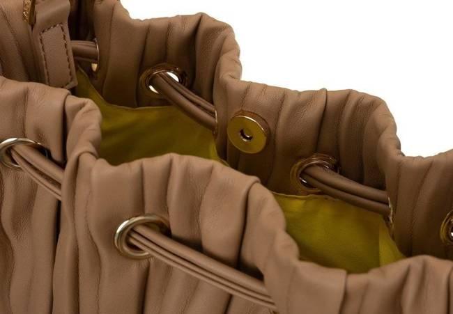 Plisowany worek brązowy Nobo NBAG-K3600-C015