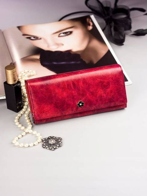 Pojemny portfel damski czerwony PX20-2