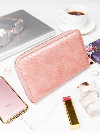 Pojemny portfel damski różowy Milano Design