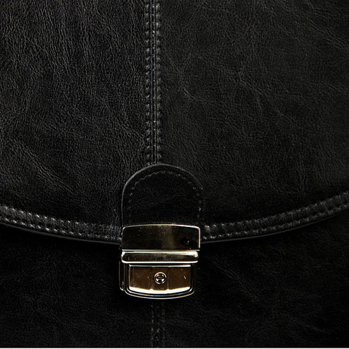 Polska skórzana teczka męska elegancka czarna G10