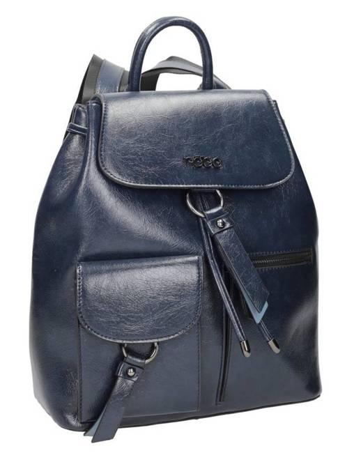 Połyskujący plecak damski granatowy Nobo NBAG-K2450-C013