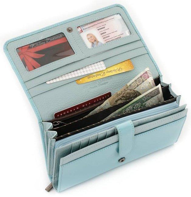 Portfel damski błękitny Lorenti 1077-NIC RFID L.BLUE