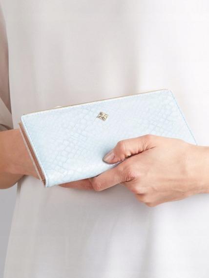 Portfel damski błękitny Milano Design K1213-SN L.BLUE