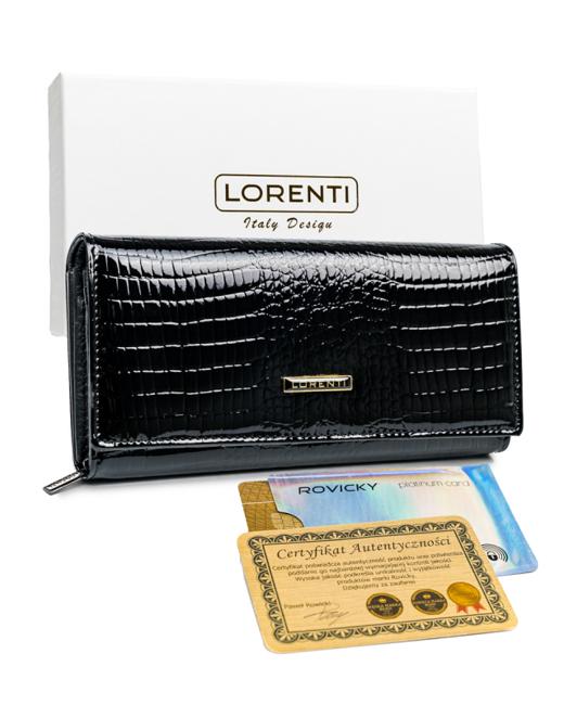 Portfel damski czarny Lorenti V-55288-RS BLACK