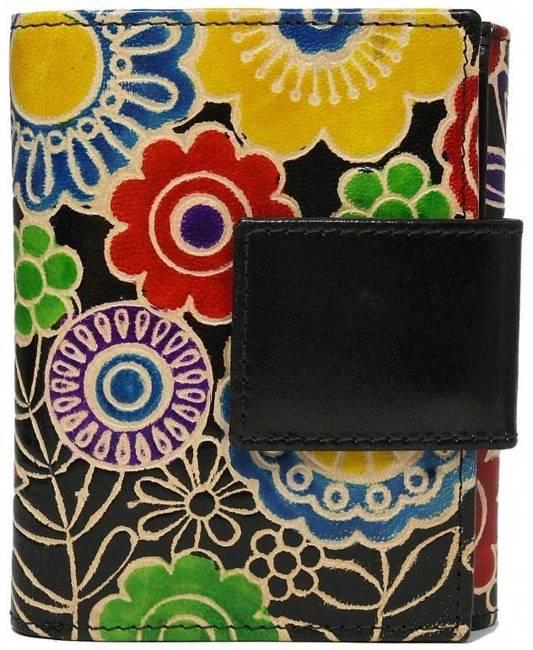 Portfel damski czarny kwiaty SPG-100-SHANTI BLACK