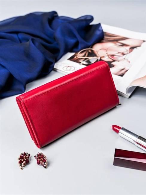 Portfel damski czerwony Cavaldi  RD-12-GCL RED