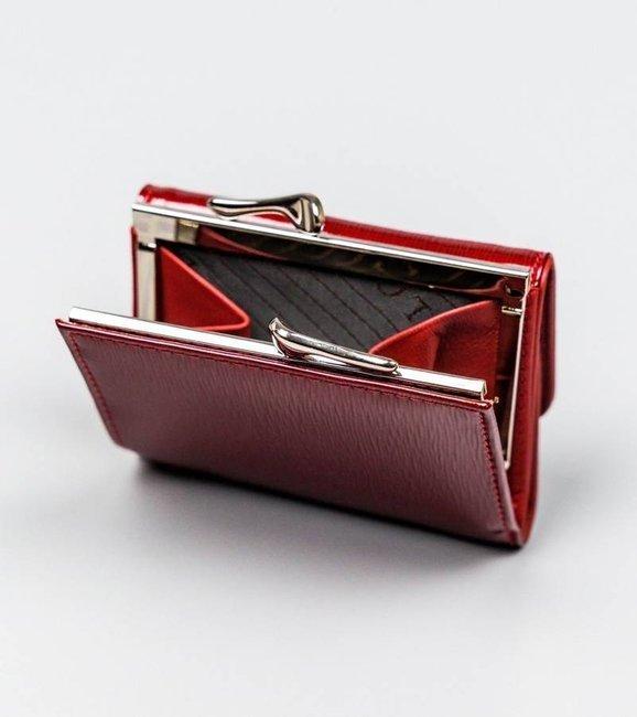Portfel damski czerwony Lorenti 55287-SH NAPIS RED