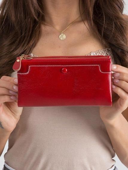 Portfel damski na zamek czerwony Milano Design
