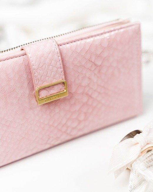 Portfel damski różowy Milano Design K1211-SN-7244 PINK