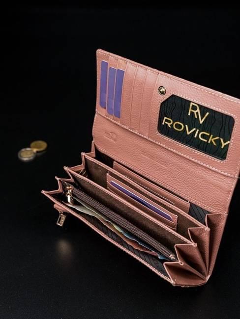 Portfel damski różowy Rovicky 8805-JXW PINK