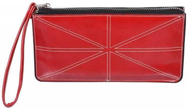 Portfel damski, saszetka czerwony SF-1703 RED