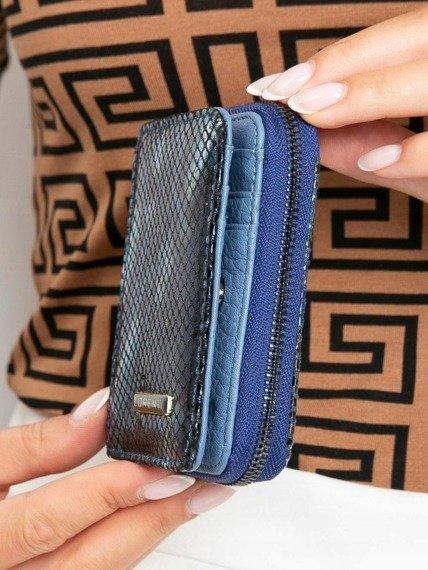 Portfel damski skórzany RFID Lorenti 5157-MSN niebieski